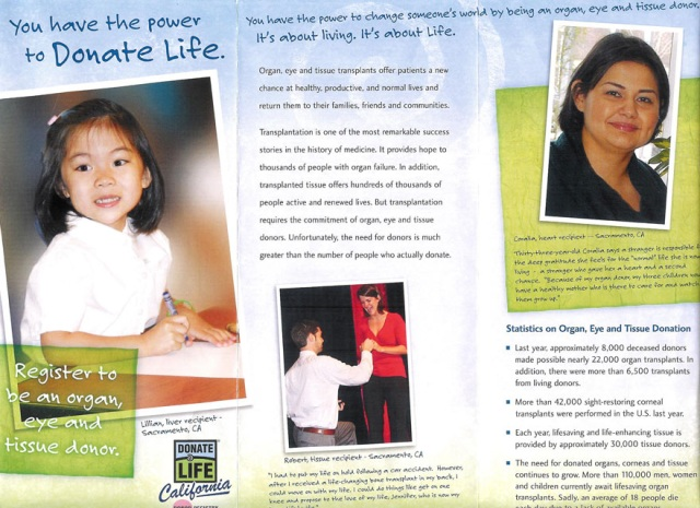 Donate Life California Application